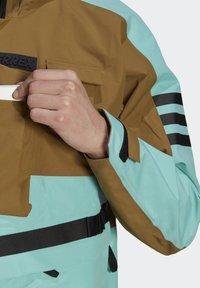 adidas Performance - XPLORIC RAIN JACKET - Hardshell jacket - wild moss/acid mint - 8