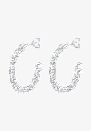 HOOPS CHAIN LOOK TREND - Earrings - silver-coloured