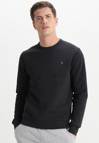 Farah - TIM CREW - Sweatshirt - black marl - 0