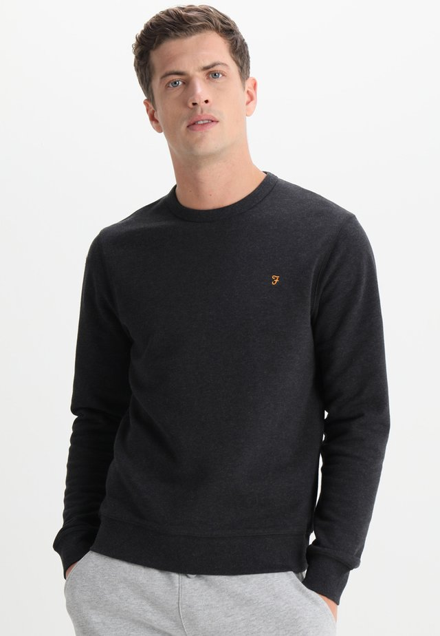 TIM CREW - Sweatshirt - black marl