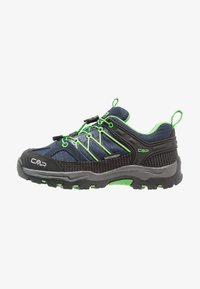 CMP - KIDS RIGEL LOW SHOE WP UNISEX - Hiking shoes - black/blue/gecko - 1