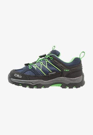 KIDS RIGEL LOW SHOE WP UNISEX - Hiking shoes - black/blue/gecko