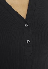 YAS - YASBLAX BUTTON - Long sleeved top - black - 5
