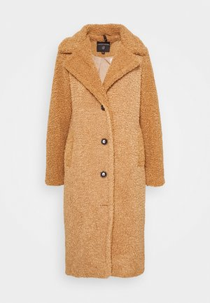 SUPER LONG COAT - Abrigo - fudge