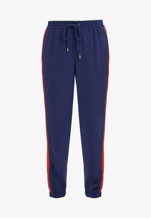 STRIPE TRACK PANT - Trousers - true navy/bright terra