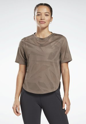 PERFORATED T-SHIRT - Print T-shirt - grey