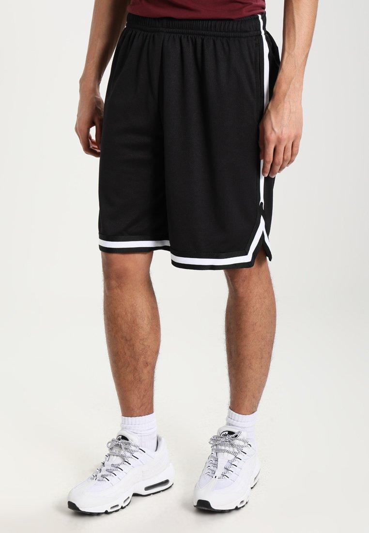 Urban Classics - STRIPES - Pantalon de survêtement - black/black/white