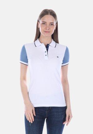 Polo - white indigo