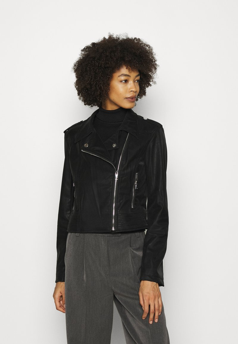 Guess - NEW KHLOE JACKET - Faux leather jacket - jet black