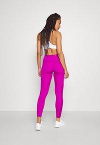 Nike Performance - RUN EPIC FAST - Leggings - red plum/reflective silve - 2