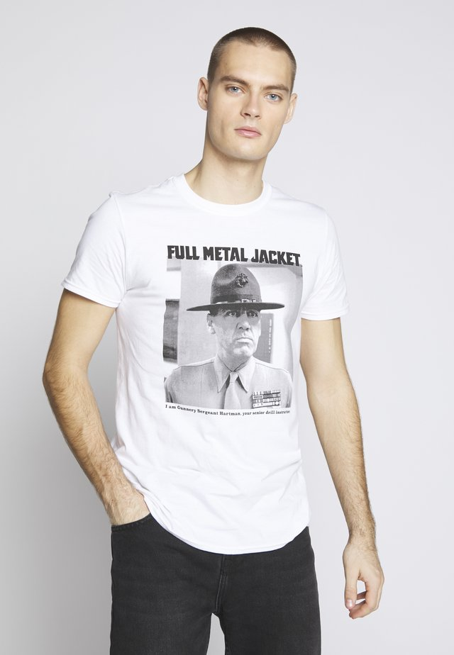 FULL METAL JACKET - Printtipaita - white
