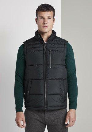 MIT STEHKRAGEN - Waistcoat - black