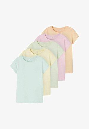 5ER-PACK - Basic T-shirt - pale blue