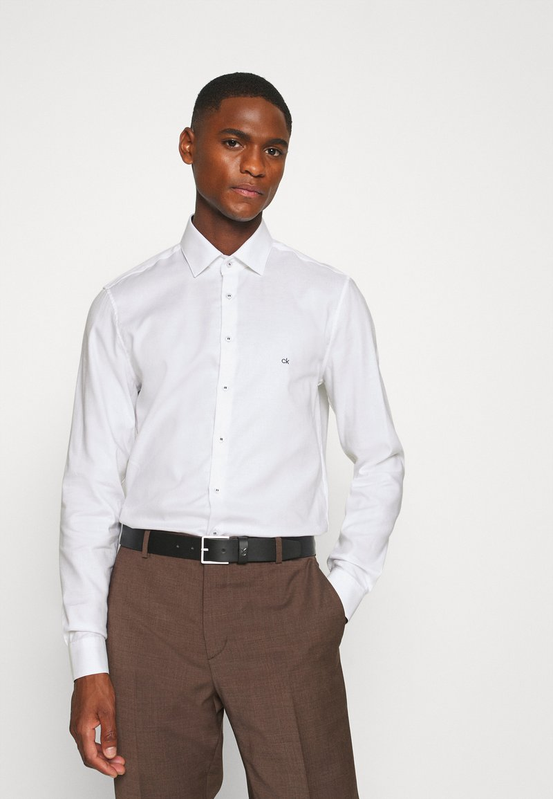 Calvin Klein Tailored - CONTRAST PRINT SLIM SHIRT - Formal shirt - white