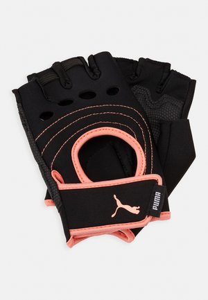 SHIFT GLOVES - Kurzfingerhandschuh - black/peach