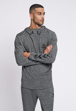 ASTON - Sweat à capuche - dark grey melange