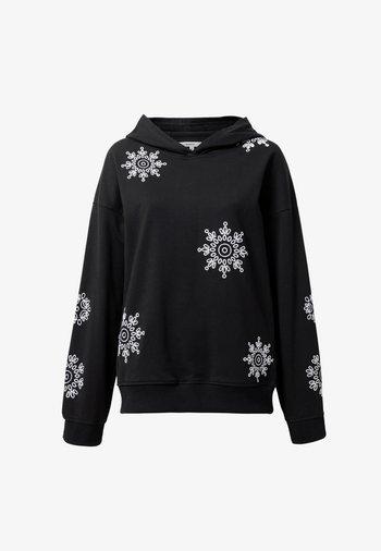 SWISS EMBOIDERY - Sweatshirt - black