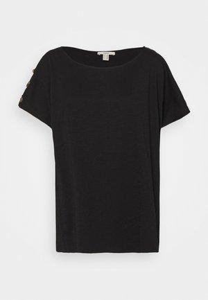 BUTTON - Basic T-shirt - black
