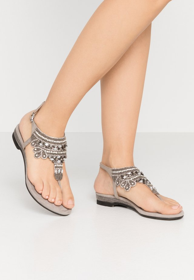 T-bar sandals - porcini