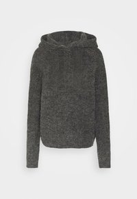 Noisy May Tall - NMWARREN HOODIE TALL - Pullover - dark grey melange - 4