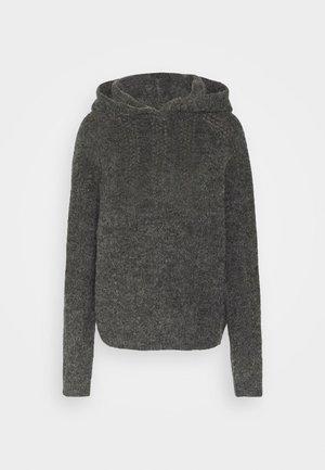 NMWARREN HOODIE TALL - Jumper - dark grey melange
