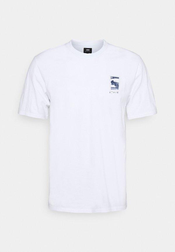 Edwin FUJI SCENERY UNISEX - T-shirt z nadrukiem - white/biały Odzież Męska MZWS