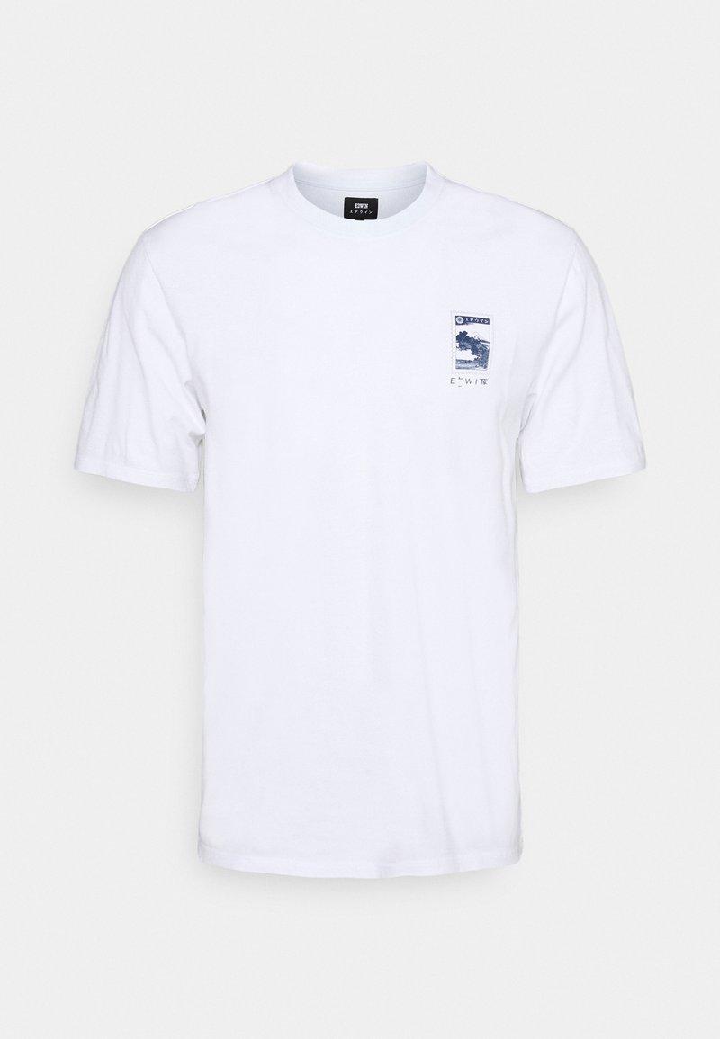 Edwin - FUJI SCENERY UNISEX - T-shirt imprimé - white