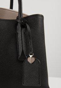 kate spade new york - MEDIUM SATCHEL - Handtasche - black/warm taupe - 5