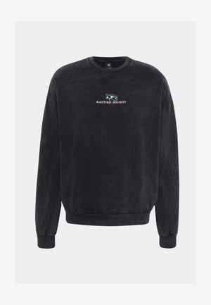 CREW WASHED RAMEN BLACK - Majica s kapuljačom - black
