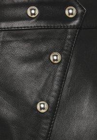 Iro - UNGA - Leather skirt - black - 2