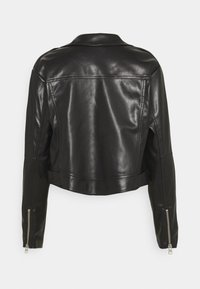 Calvin Klein Jeans - BIKER HOODED JACKET - Faux leather jacket - black - 2
