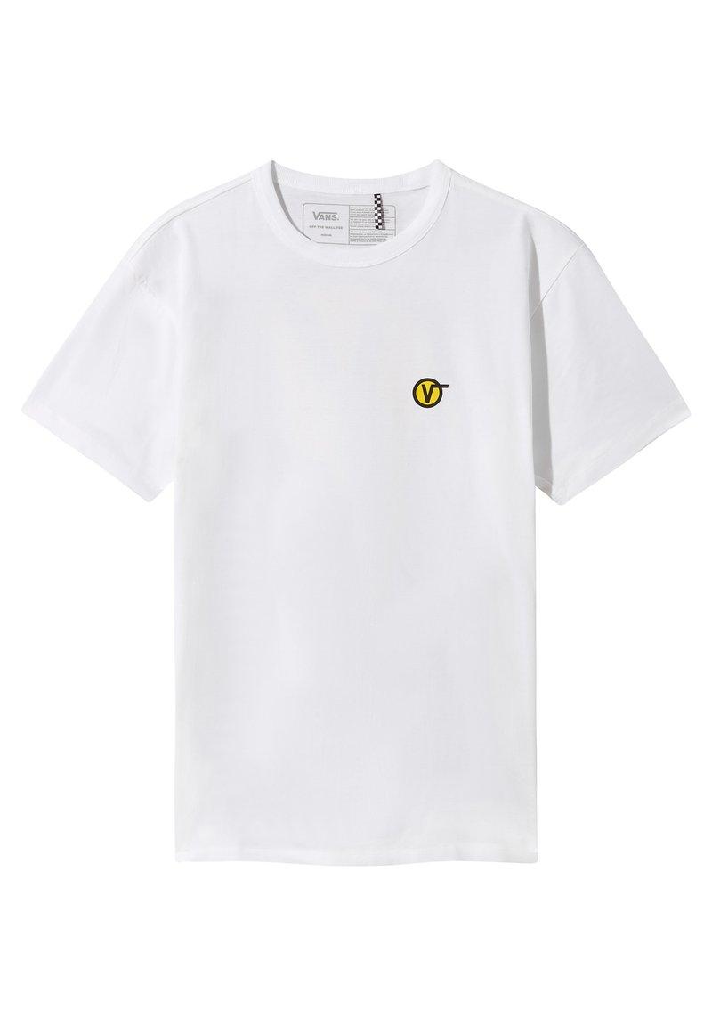 Vans - MN OFF THE WALL CLASSIC CIRCLE V SS - Print T-shirt - white