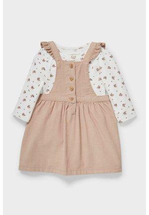 Jersey dress - brown / cremewhite