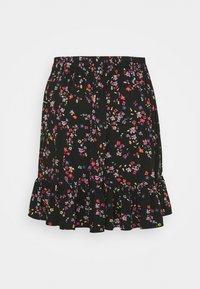 Pieces Curve - PCLALA SKIRT - Minifalda - black/splash - 1