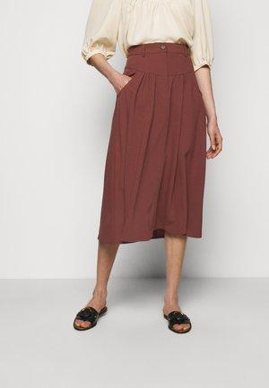 A-line skirt - blushy tan