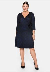 Sheego - Cocktail dress / Party dress - schwarz-blau - 0