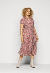 Lauren Ralph Lauren Woman - AMIT SHORT SLEEVE CASUAL DRESS - Day dress - red/multi - 1