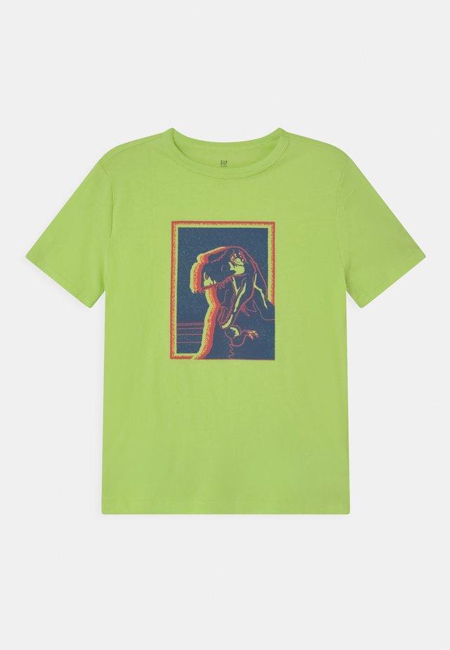 Print T-shirt - active yellow