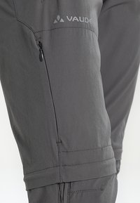 Vaude - WOMEN'S FARLEY STRETCH ZO T-ZIP PANTS 2-IN-1 - Trousers - iron - 6
