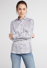 Eterna - Button-down blouse - weiss/braun/blau - 0