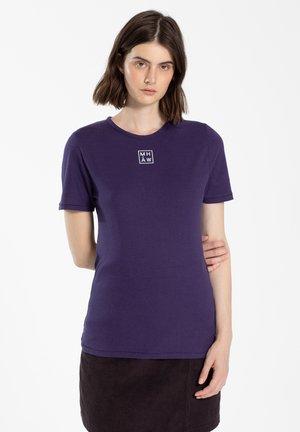 T-shirt print - dark violet