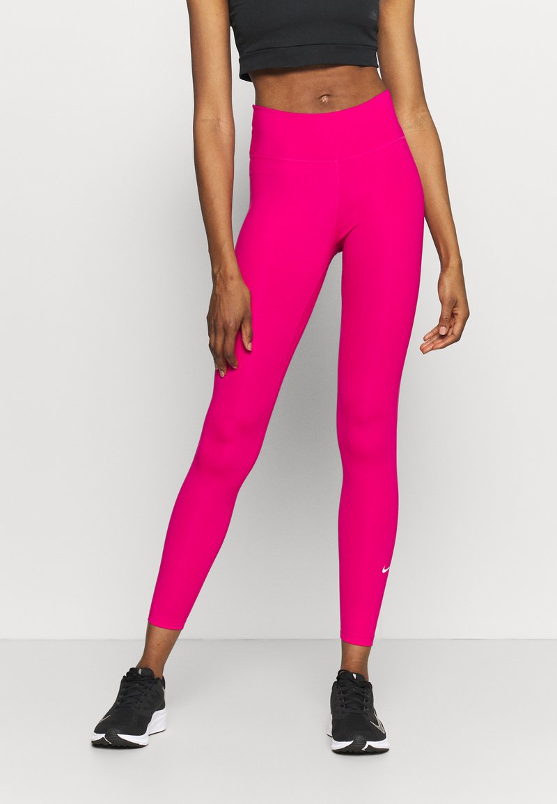 Nike Performance - ONE - Tights - fireberry/white