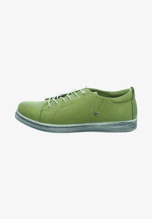 Casual lace-ups - kiwi green