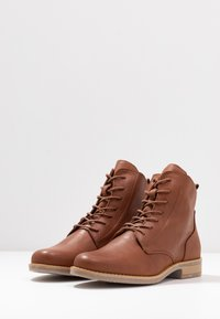Anna Field - LEATHER BOOTIES - Ankle boots - cognac - 4