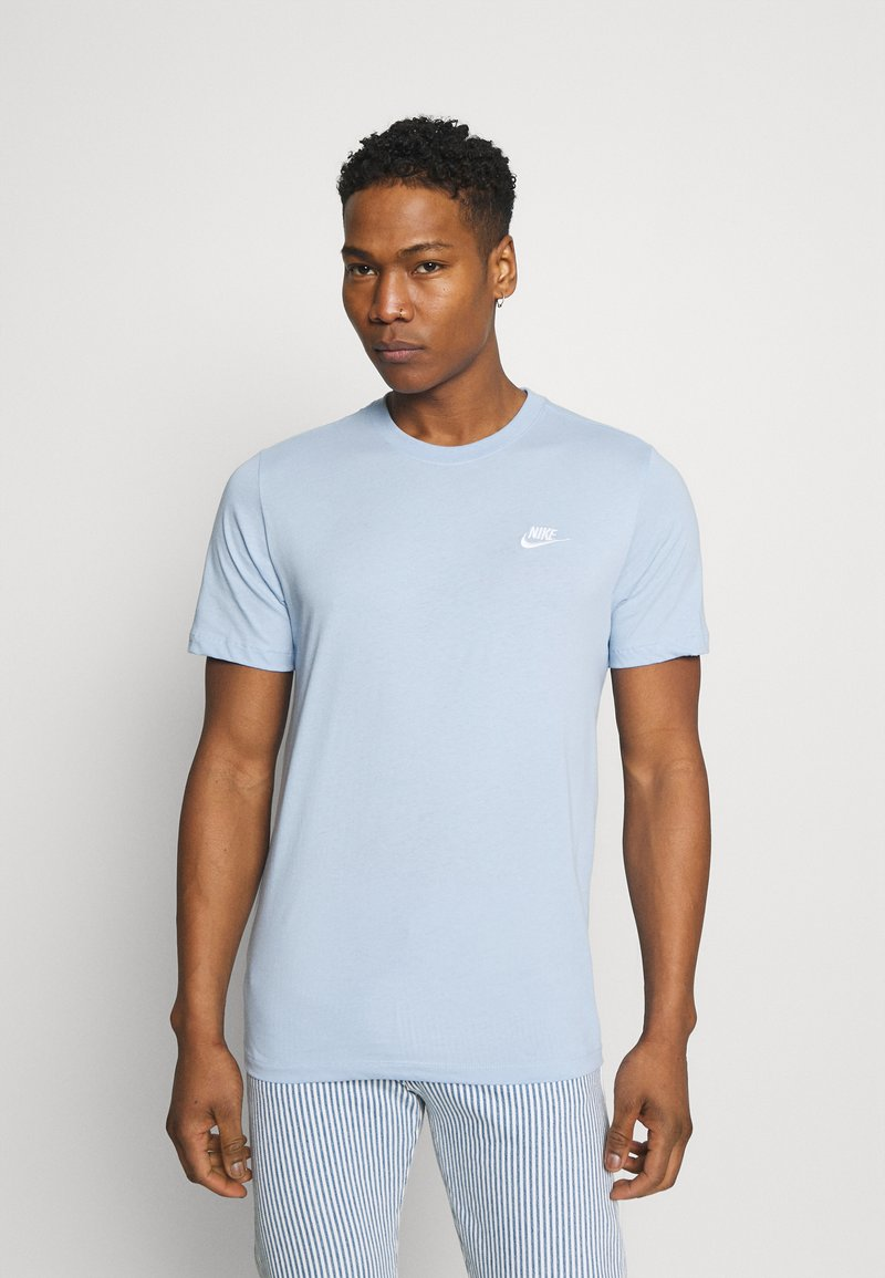 Nike Sportswear - CLUB TEE - T-shirt - bas - psychic blue/white