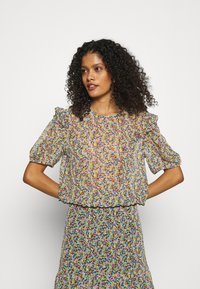 Lindex - BLOUSE AURELIA - Print T-shirt - black - 0