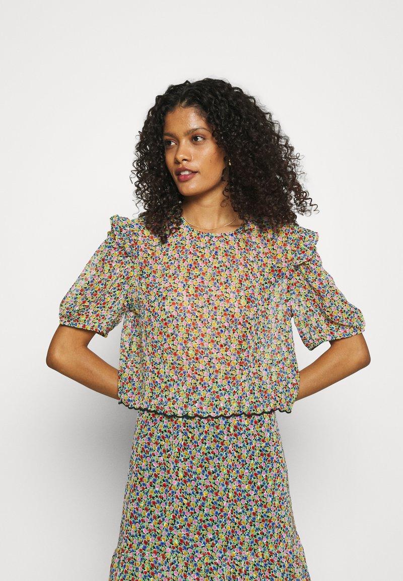 Lindex - BLOUSE AURELIA - Print T-shirt - black