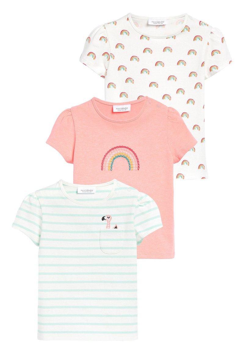 Next - 3 PACK FLAMINGO TOPS - Print T-shirt - off-white