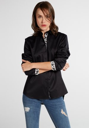 MODERN CLASSIC - Button-down blouse - schwarz