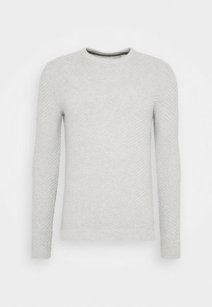 ONSPIERRE STRUCTURE CREW NECK - Strikkegenser - light grey melange